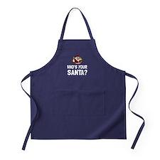 Who Is Your Santa Apron (dark)