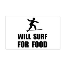 Will Surf For Food Wall Decal