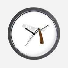Straight Razor Wall Clock