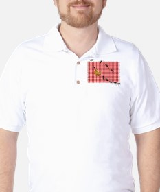 Picnic Ants Marching Across Red Checked Golf Shirt