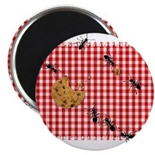 Picnic Ants Marching Across Red Checked Cl Magnets