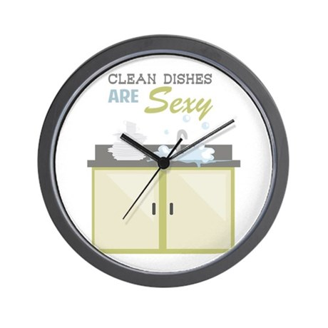 Clean Dishes Sexy Wall Clock by Windmill26
