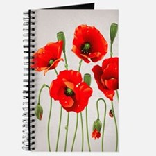 Painted Red Poppies Journal