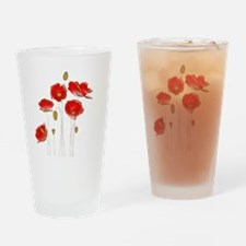 Cute Flower and art Drinking Glass