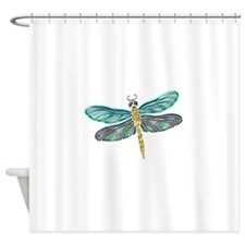 Glowing Stained Glass and Abalone S Shower Curtain