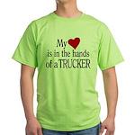My Heart in the Hands Trucker Green T-Shirt