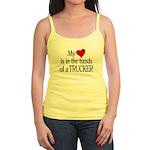 My Heart in the Hands Trucker Jr. Spaghetti Tank