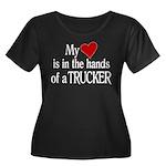 My Heart Women's Plus Size Scoop Neck Dark T-Shirt