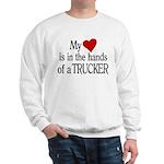 My Heart in the Hands Trucker Sweatshirt