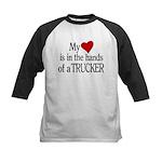My Heart in the Hands Trucker Kids Baseball Jersey