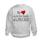 My Heart in the Hands Trucker Kids Sweatshirt