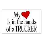 My Heart in the Hands Trucker Sticker (Rectangle)
