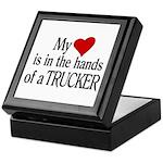 My Heart in the Hands Trucker Keepsake Box