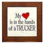 My Heart in the Hands Trucker Framed Tile