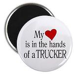 My Heart in the Hands Trucker Magnet