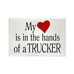 My Heart in the Hands Trucker Rectangle Magnet