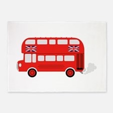 London Bus 5'x7'Area Rug