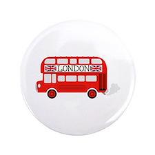 """London Double Decker 3.5"""" Button (100 pack)"""