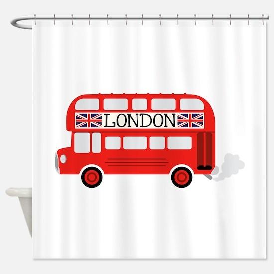 London Double Decker Shower Curtain