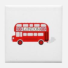 London Double Decker Tile Coaster