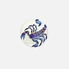 Celestial Rainbow Scorpion Mini Button