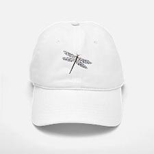 Pointilist Gem Studded Dragon Fly Baseball Baseball Cap