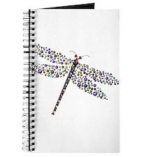 Pointilist Gem Studded Dragon Fly Journal