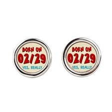 bornon0229-ornR.png Round Cufflinks