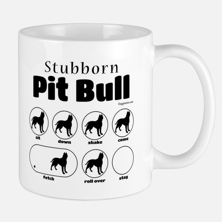 Stubborn Pit Bull v2 Mug