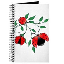 Delicate Ladybugs on Graceful Leaves Journal