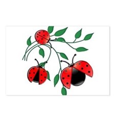 Delicate Ladybugs on Grac Postcards (Package of 8)