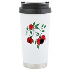 Delicate Ladybugs on Gr Travel Mug