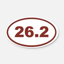 26.2 Red Maroon Oval Car Magnet