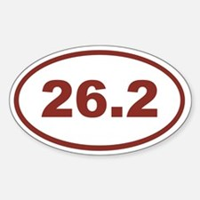 26.2 Red Maroon Decal