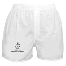 Keep calm and focus on Smooth Fox Ter Boxer Shorts