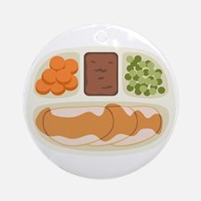 TV. Dinner Microwave Tray Ornament (Round)