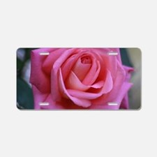 Pink of the Don Juan Rose Aluminum License Plate