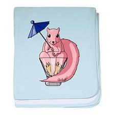 Pink Squirrel baby blanket