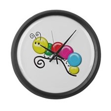 Shiny Caterpillar on a Twig Large Wall Clock