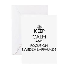 Keep calm and focus on Swedish Lapp Greeting Cards