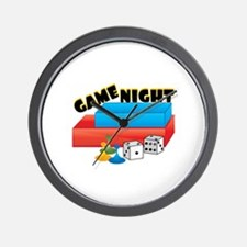 Game Night Wall Clock