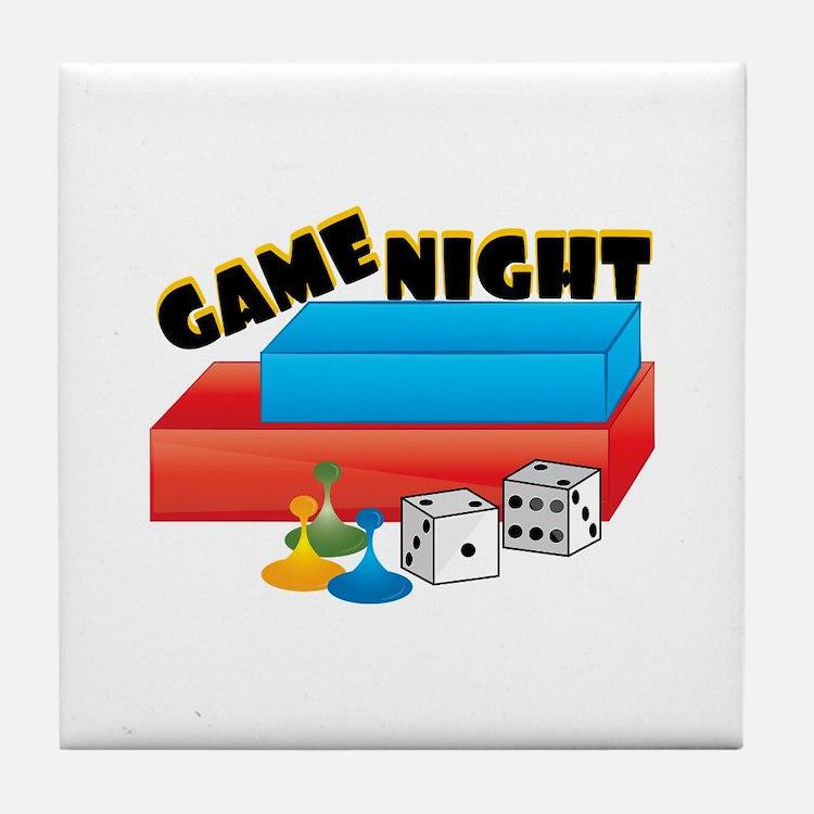 Game Night Tile Coaster