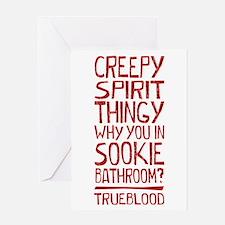 Creepy Spirit Thingy True Blood Greeting Cards