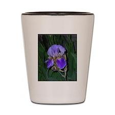 Purple Iris Flag Shot Glass