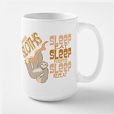 Sloth Sleep Eat Hang Mugs