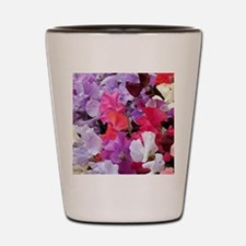 Sweet peas flowers in bloom Shot Glass