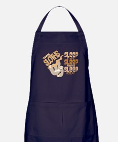 Sloth Sleep Eat Hang Apron (dark)
