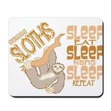 Sloth Sleep Eat Hang Mousepad
