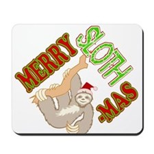 Sloth Merry Christmas Mousepad