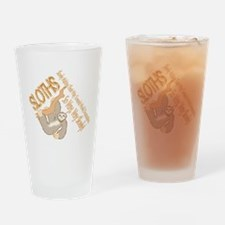 Sloth World Domination Drinking Glass